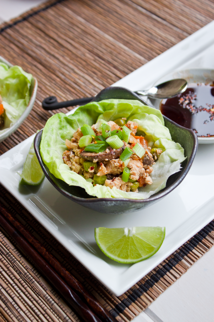 Vegan Gluten-Free Tofu Lettuce Cups inspired by PF Changs
