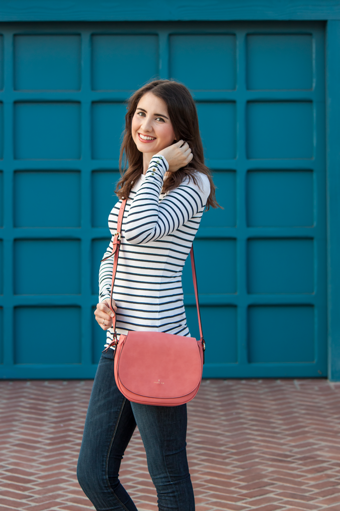 Stripes with a crossbody bags