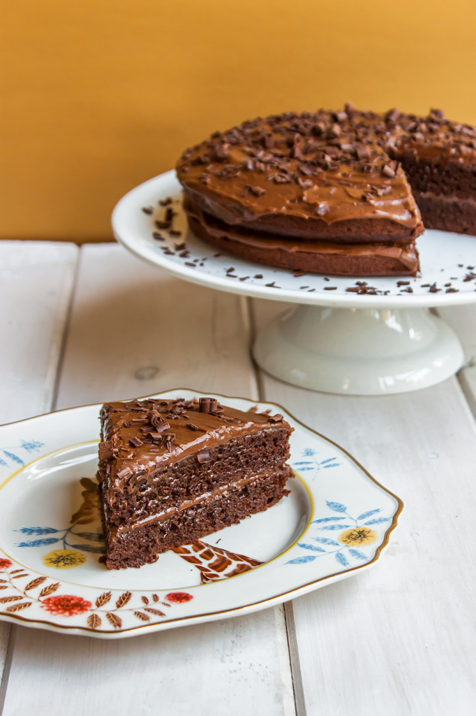 Gluten-Free Chocolate Fudge Cake by Vegan À La Mode