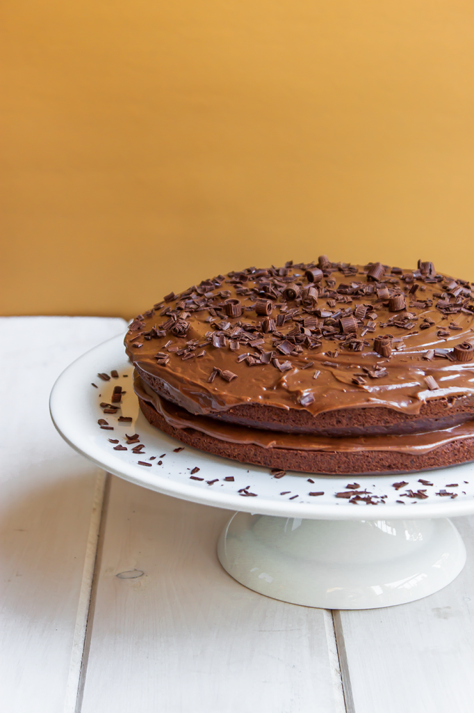 Chocolate Fudge Gluten-Free Cake Recipe. Delicious and easy to make!