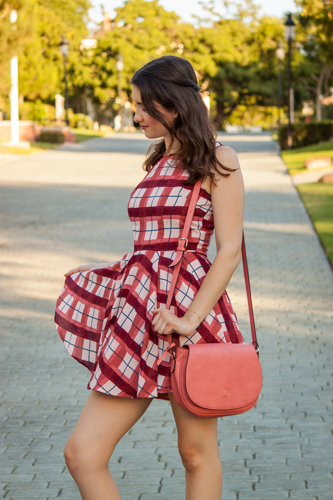 Pink Plaid Dress