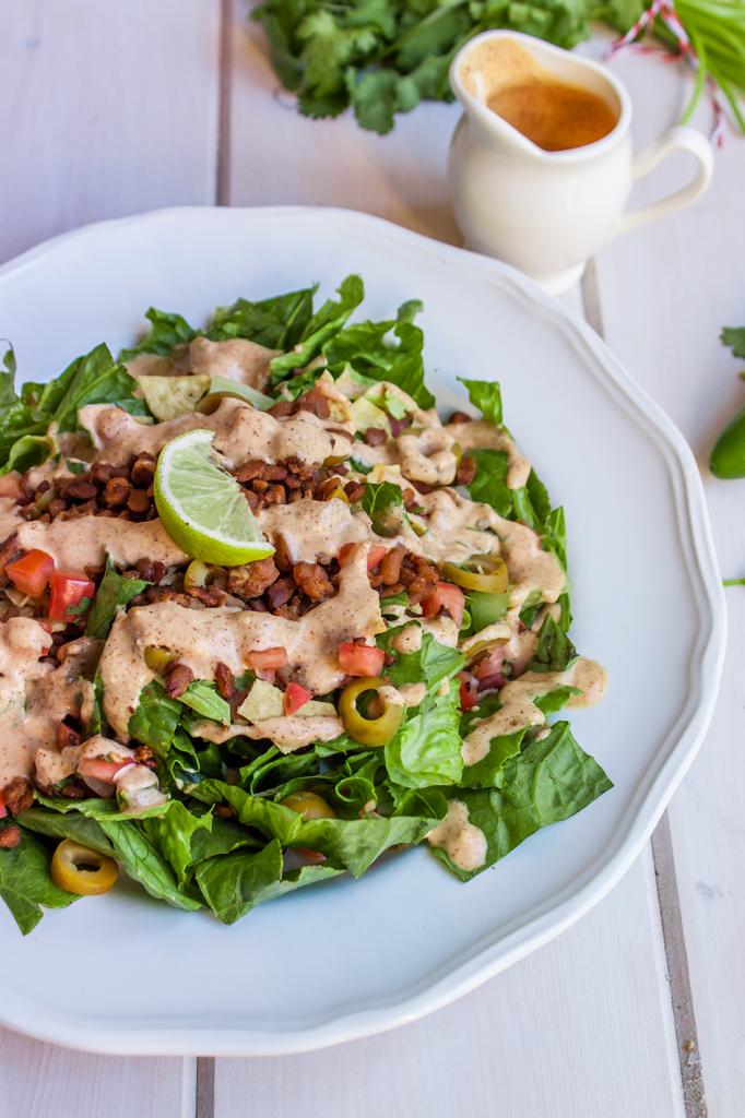 Vegan Gluten-Free Tempeh Taco Salad