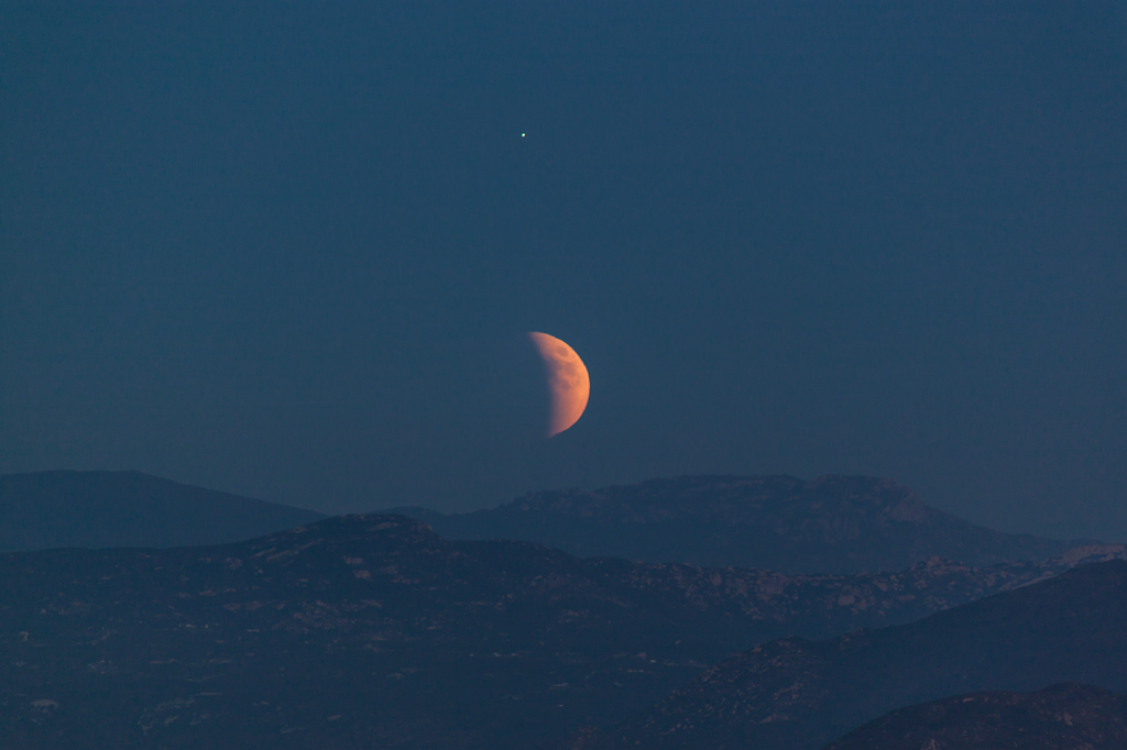 Lunar Eclipse at Mount Helix, California