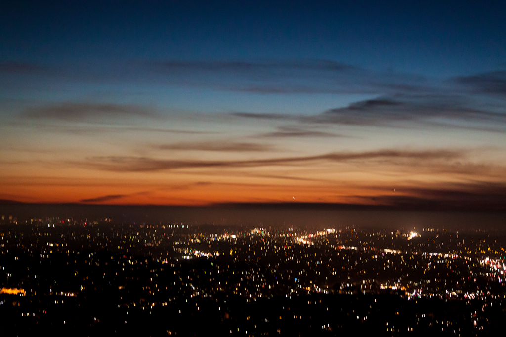 Dusk at Mount Helix