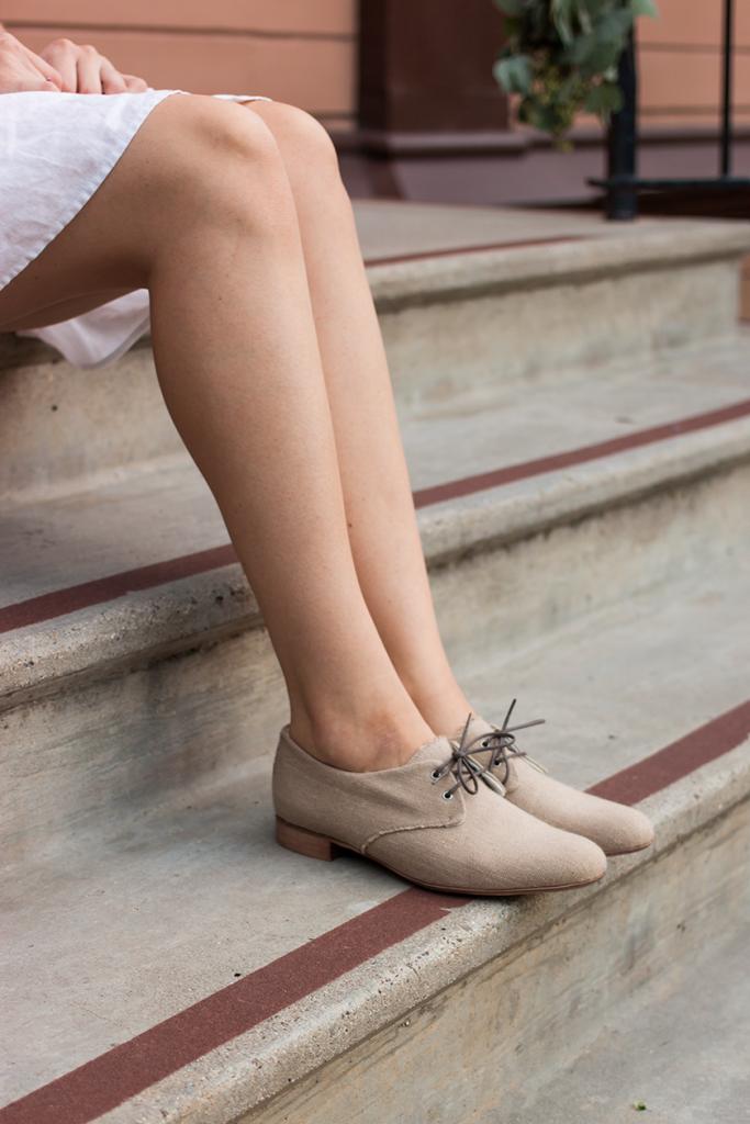 Lace up vegan organic hemp shoes