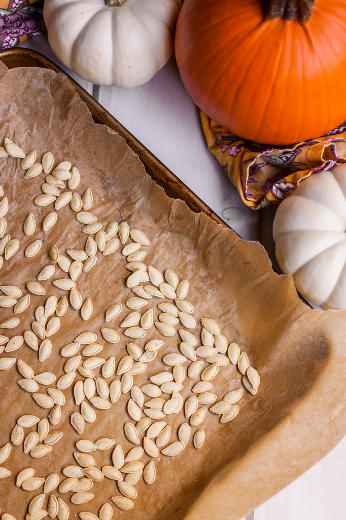 Perfect vegan roasted pumpkin seeds