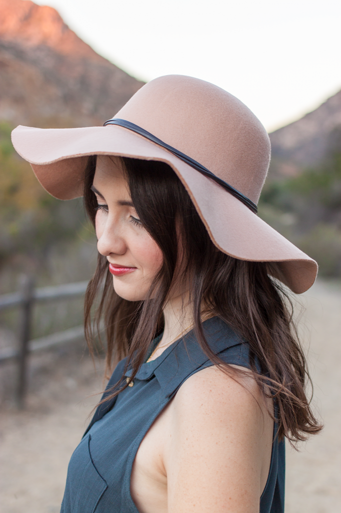 Vegan floppy felt hat