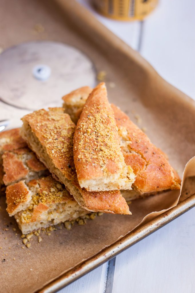 Vegan Gluten-Free Garlic Parmesan Breadstick Recipe