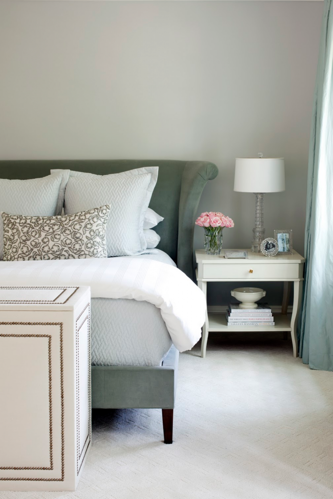 Pretty Grey and White Bedroom