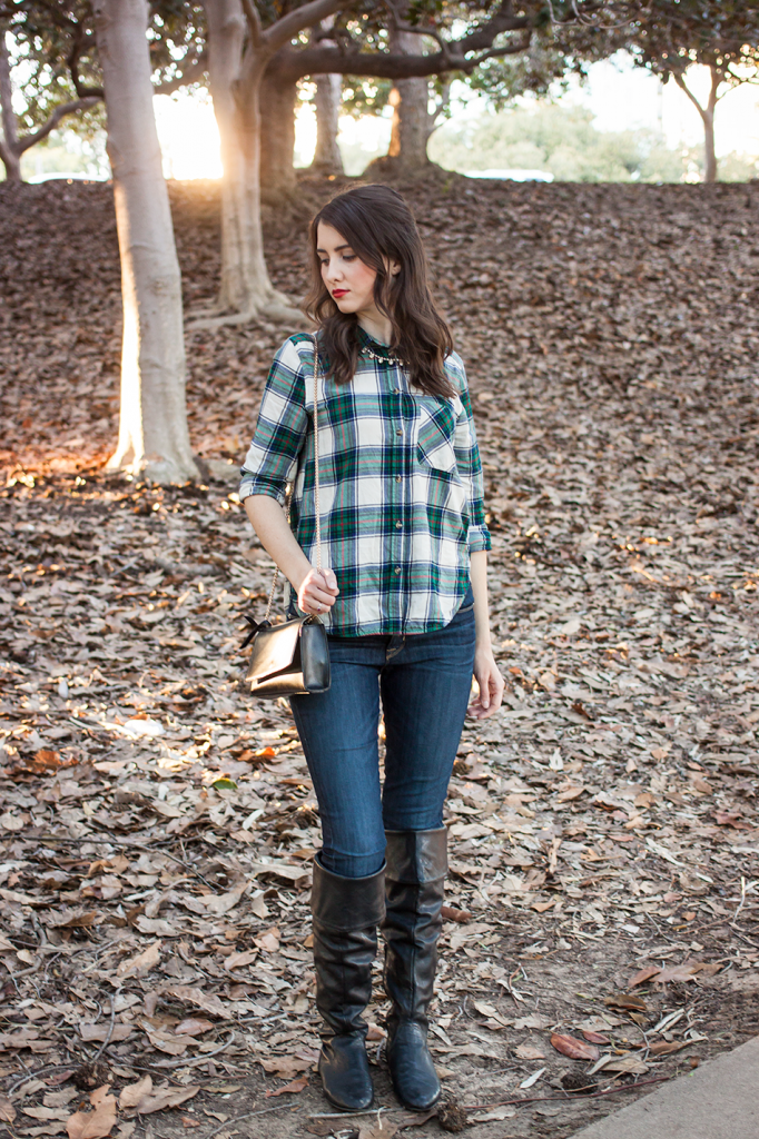 Plaid shirt and boots