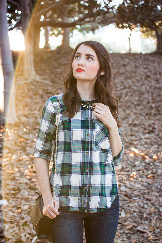 Flannel plaid shirt from American Eagle