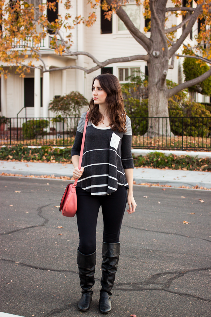 Fall striped outfit