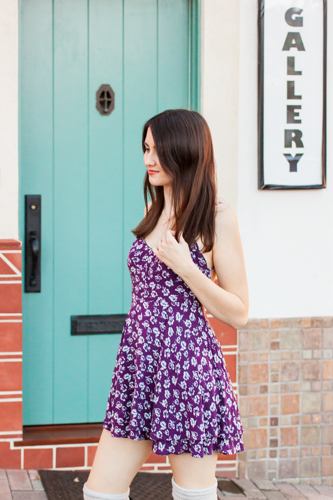 Purple floral Urban Outfitters dress