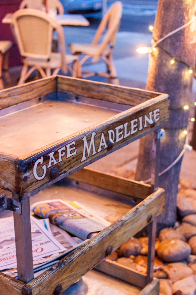 Cafe Madeline, cute Parisian inspired cafe in San Diego, CA