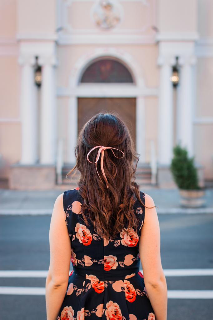 Pink Ribbon Hair Bow