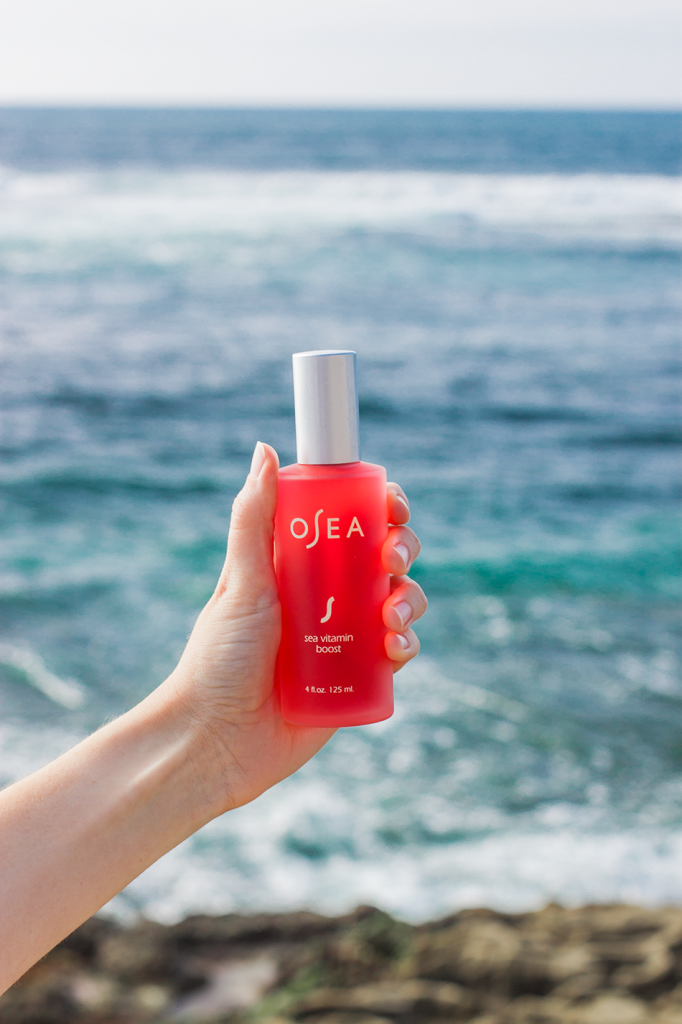 OSEA natural beauty- organic sea vitamin boost. Moisturizing spray you can use over makeup. My favorite for dry weather!