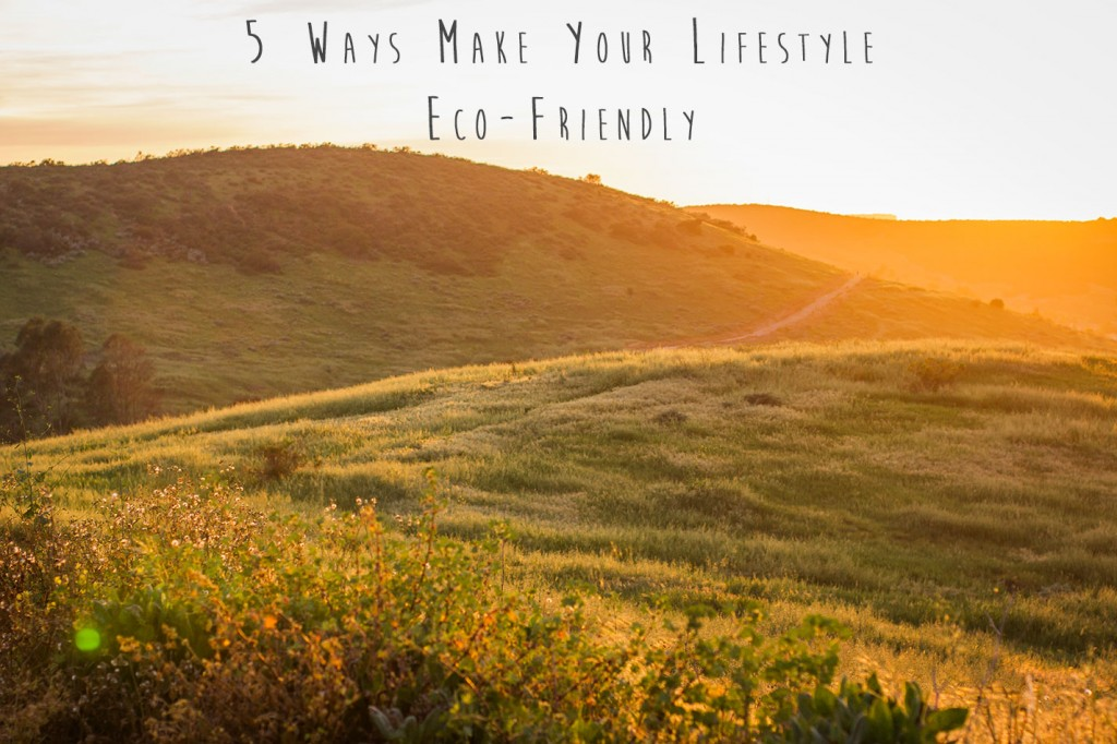 5 Ways To Make Your Lifestyle Eco-Friendly