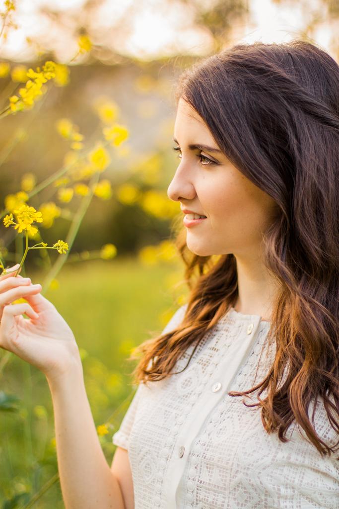 Golden hour meadow portrait