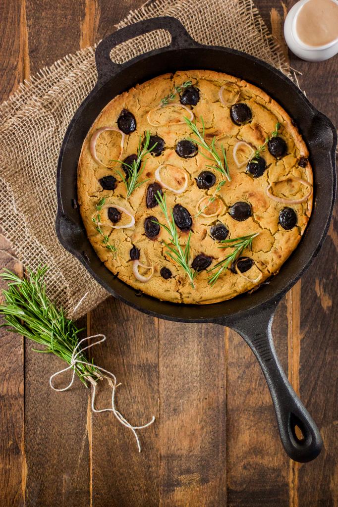 Vegan Gluten-Free Greek Farinata Recipe Inspired by Cafe Gratitude