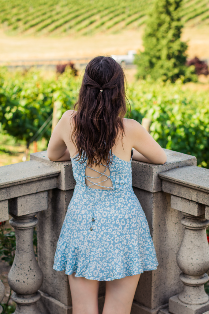 Napa Valley | Wine Tasting | Vineyard | Vegan | Vegan Wine | Domaine Carneros | Wine Country | San Francisco | #UOOnYou | Lace-Up Dress | Urban Outfitters | Fashion | Cruelty-Free | Outfit