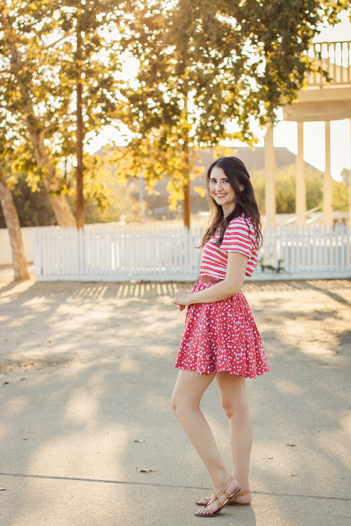Polka Dots | Stripes | Vintage | Skirt | Top | Eco-Friendly Fashion | Retro | Fashion | Cruelty-Free | Outfit