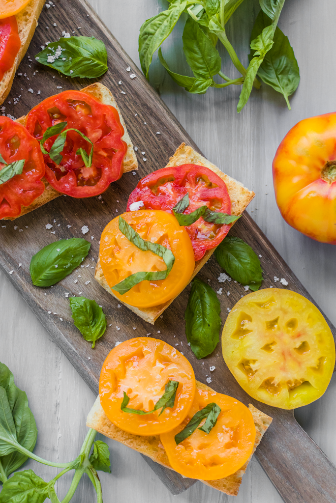 Gluten-Free Heirloom Tomato Toast Recipe
