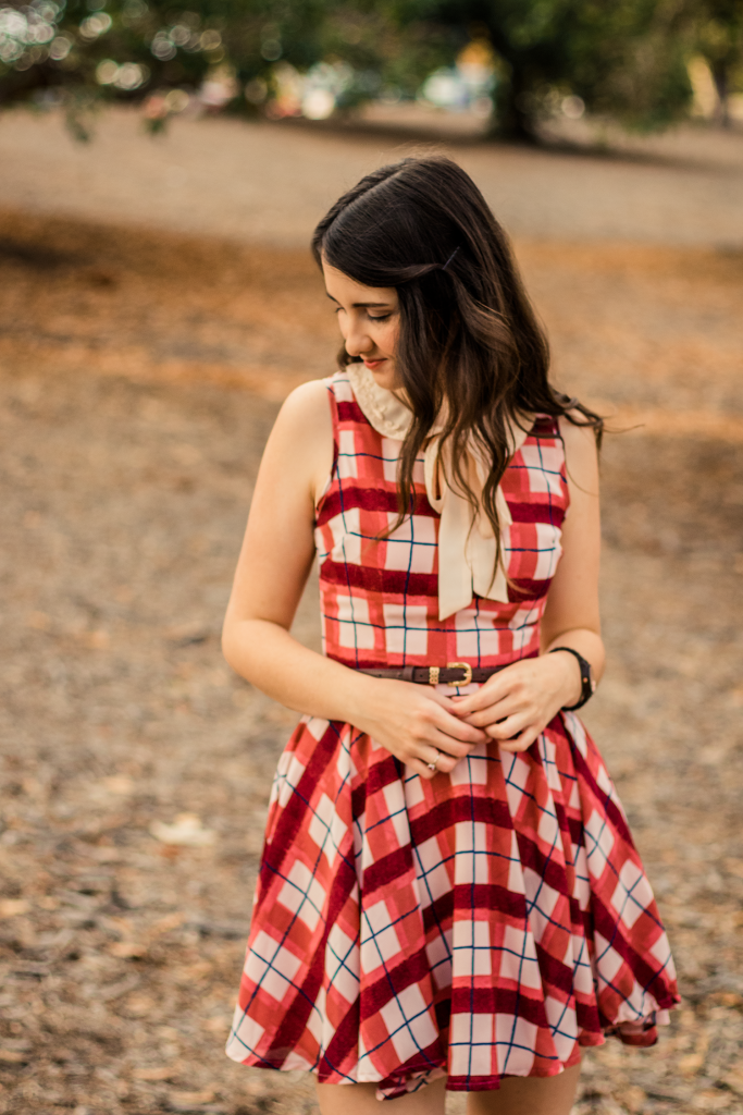 Jord Wood Watch | Plaid ModCloth | Retro | Chic | Pink | Fall | Bow | Ribbon | Tie Neck | Peter Pan Collar | Summer | Vintage | Floral | Fashion | Cruelty-Free | Outfit