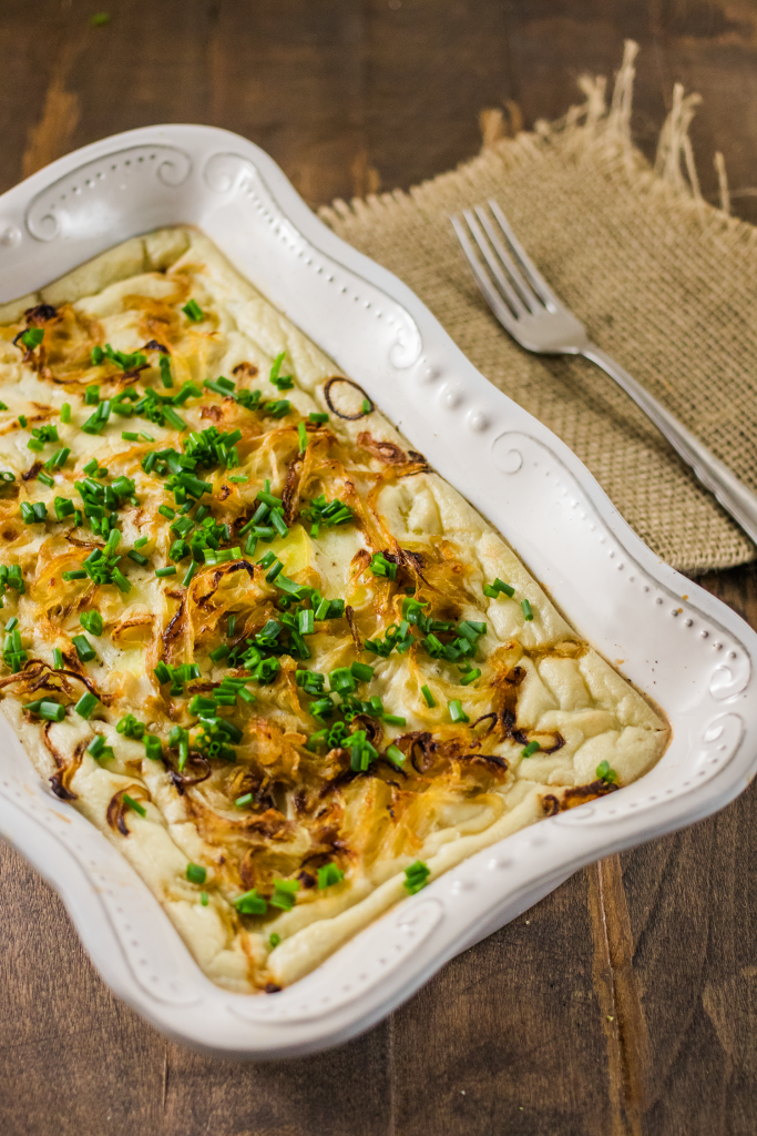 Vegan Thanksgiving Recipe: Scalloped Potatoes with Caramelized Onions