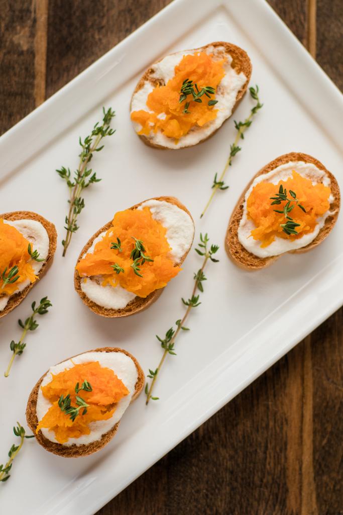 Vegan Thanksgiving Recipe: Butternut Squash and Cashew Cheese Crostini