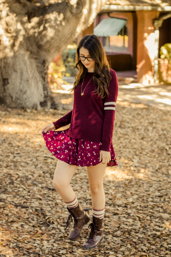 Dress | Sweater | American Eagle Outfitters | Layers | Urban Outfitters | Ruche | ModCloth | Retro | Chic | Rustic | Fall | Autumn | Cardigan | Vintage | Floral | Fashion | Cruelty-Free | Outfit