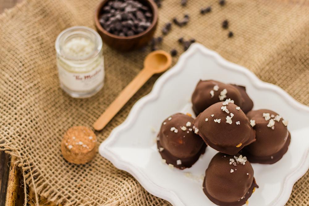 Vegan Salted Caramel Truffles