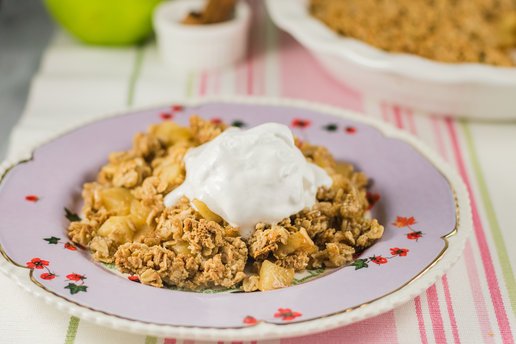 Gluten-Free and Vegan Apple Crisp from the Blissful Basil cookbook