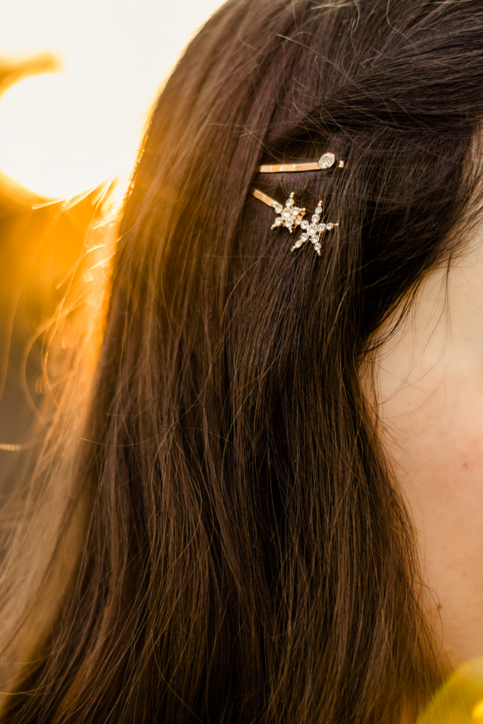 Star-crossed hair pins