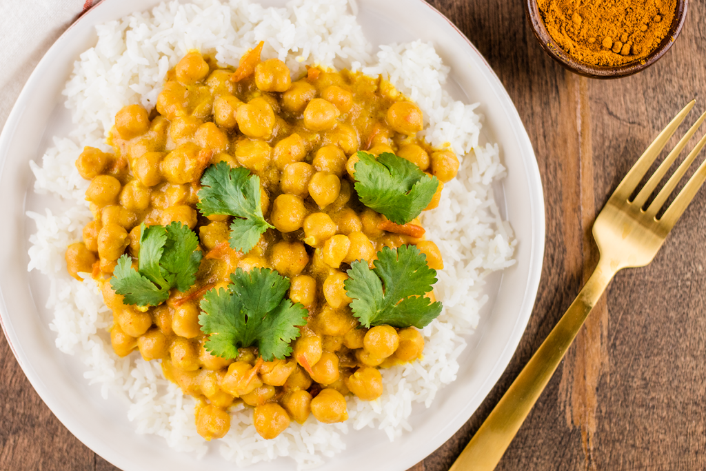 Curried Chickpeas with Basmati Rice