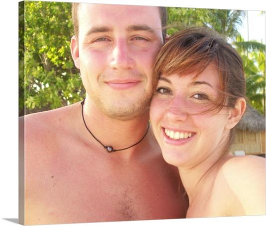Magnifique photo sur toile de couple