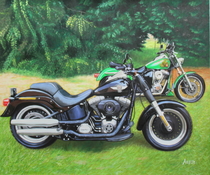 I ordered a painting of my partners two Harley Davidson bikes for a Xmas gift late November and within a week I received a copy of the painting for approval, then received the finished product within two weeks of approving the final copy. My partner absol