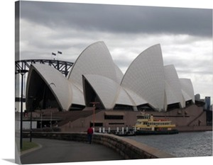 Opera House Photo on Canvas