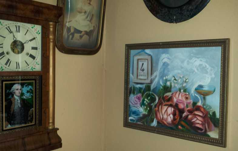 Since I was a little boy, I remembered going to my grandma`s house to visit and just stare at these two paintings she had in her foyer. One of them was of a calendar sitting on a table with a bride`s veil, a glass of champagne and some roses. The date on