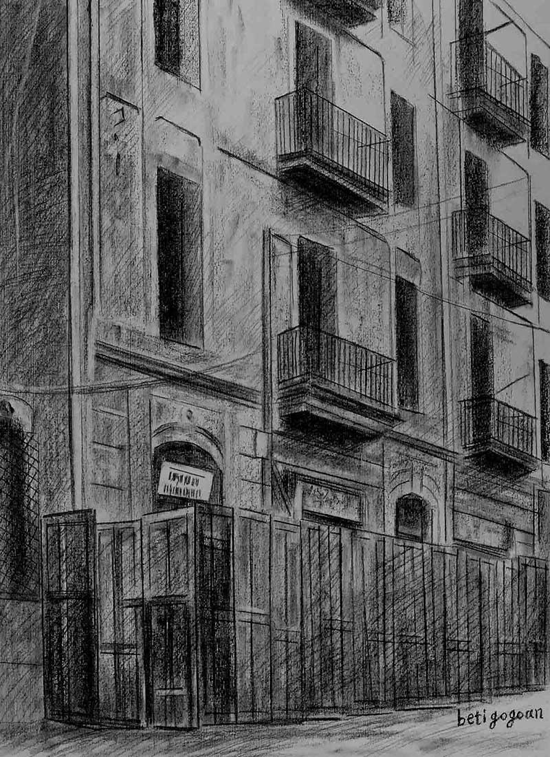 Retratos a carboncillo de casas retratos de casas a carboncillo - Casas dibujadas a lapiz ...