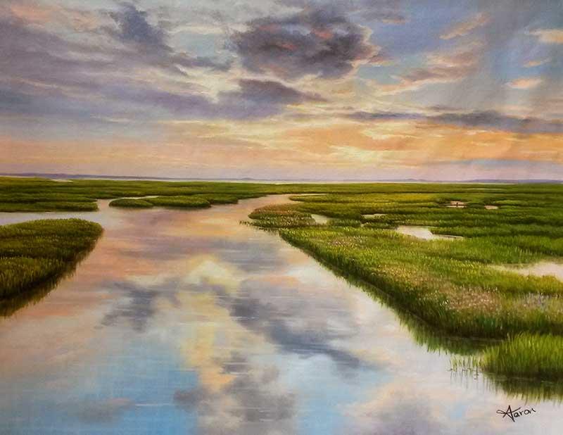 oil painting portrait landspace beautiful