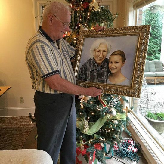 My grandmother recently passed away and I had a painting done in memorial. It was a lovely photo of my grandmother with my daughter. I gave it to my father for Christmas and he teared up when he saw it. Jason did an outstanding job. I love it so much, I`m