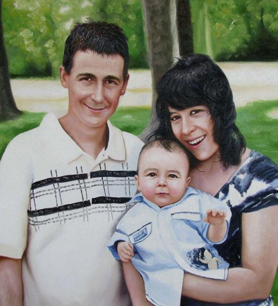 des photos de famille que la peinture à l'huile