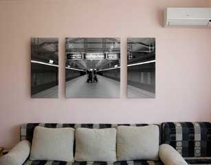 Canvas Split of Subway Station