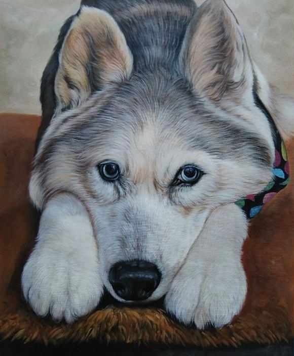 oil pet portrait