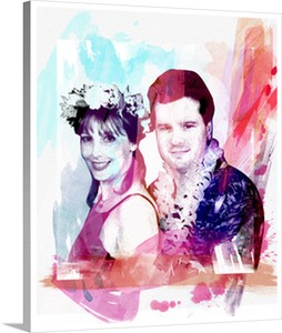 Pop Art Photo of Couple in Hawaii