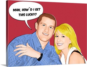 Pop Art Photo of Lucky Couple