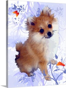 Posing Puppy from Picture to Canvas Pop Art