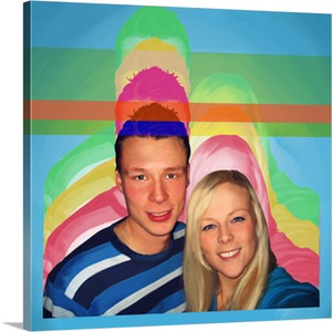 Pop Art Canvas of Casual Couple