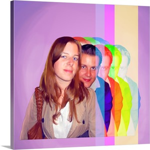 Couple Shopping in Pop Art Photo