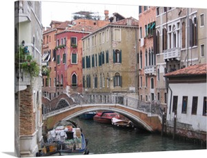 Photo to Canvas of Venice Canals